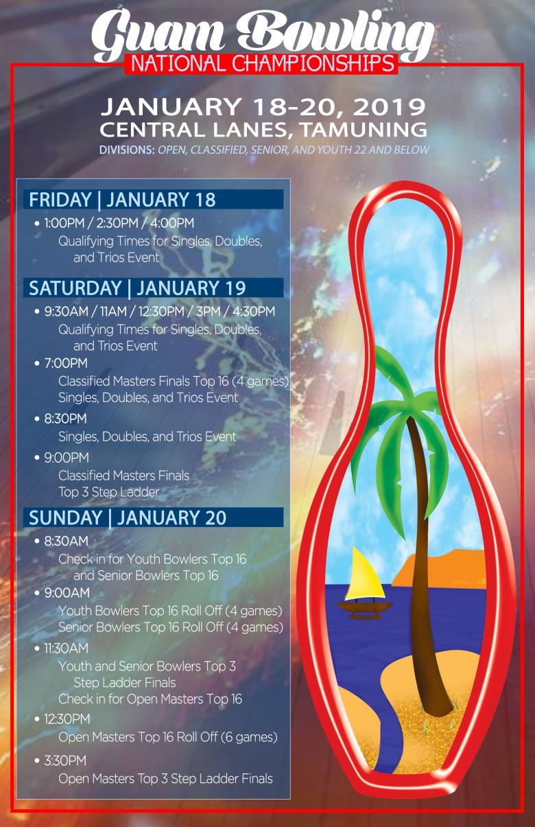 2018 Guam Bowling National Championships poster