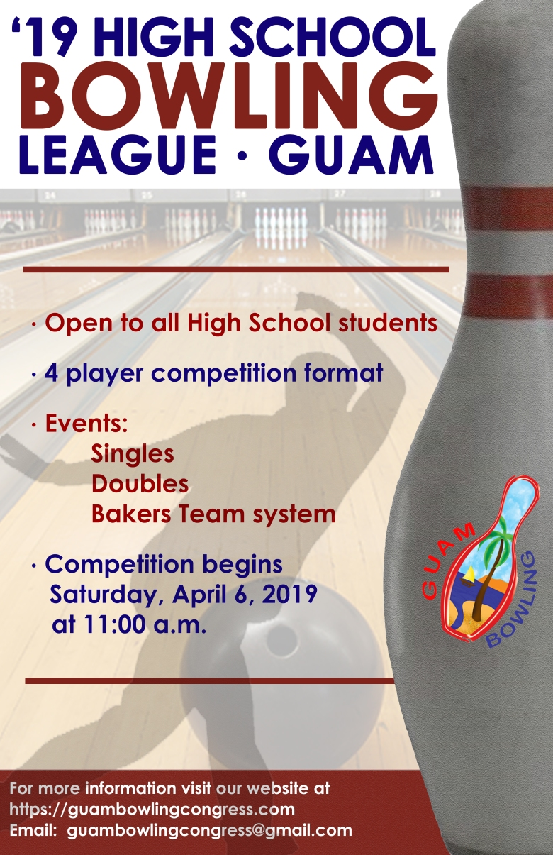 High Schools Guam Bowling League poster 2019